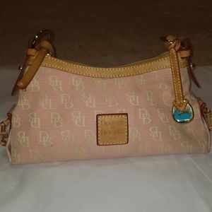 Dooney and Burke canvas and leather purse